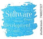 vector conceptual software... | Shutterstock .eps vector #740027227