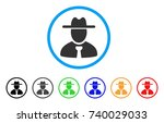 gentleman rounded icon. style...   Shutterstock .eps vector #740029033