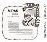 abstract maya and aztec symbol... | Shutterstock .eps vector #740031247