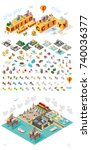 set of isometric high quality... | Shutterstock .eps vector #740036377