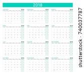 combination set of 12 month... | Shutterstock .eps vector #740037787
