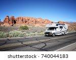 utah  united states   june 21 ... | Shutterstock . vector #740044183