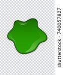 Green Liquid  Splashes And...
