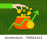 bitcoin cryptocurrency | Shutterstock .eps vector #740061613