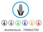 corn rounded icon. style is a... | Shutterstock .eps vector #740061703