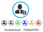 banker rounded icon. style is a ... | Shutterstock .eps vector #740064703