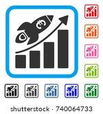euro success business start... | Shutterstock .eps vector #740064733