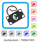 euro recurring payment icon.... | Shutterstock .eps vector #740067403