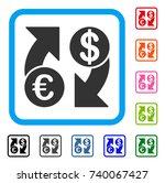 euro dollar exchange arrows...   Shutterstock .eps vector #740067427
