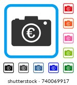 euro photo icon. flat grey...