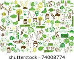 vector   green wallpaper | Shutterstock .eps vector #74008774