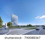 office center   3d render  3d...   Shutterstock . vector #740088367