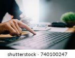 pictures of businessman that... | Shutterstock . vector #740100247
