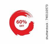 60  off sale discount banner.... | Shutterstock .eps vector #740110573