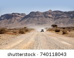 a dirt or gravel road in the...   Shutterstock . vector #740118043