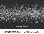 realistic vector winter silver... | Shutterstock .eps vector #740120623