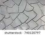 grey plaster background ...   Shutterstock . vector #740120797