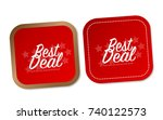 best deal stickers | Shutterstock .eps vector #740122573