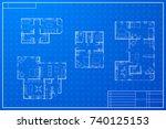 set of white different... | Shutterstock .eps vector #740125153