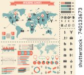 human resources icon set and... | Shutterstock .eps vector #740133673