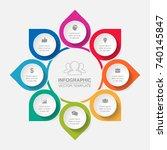 vector infographic template for ... | Shutterstock .eps vector #740145847