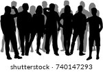 group of people. crowd of... | Shutterstock .eps vector #740147293
