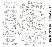 hand drawn vintage... | Shutterstock .eps vector #740151757