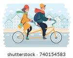 vector cartoon illustration of... | Shutterstock .eps vector #740154583