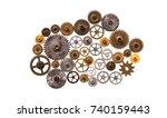 steampunk machinery ornament...   Shutterstock . vector #740159443