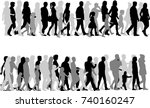 Group Of People. Crowd Of...