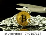 physical version of bitcoin ... | Shutterstock . vector #740167117