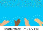 flat. applause. hands clapping. ... | Shutterstock .eps vector #740177143