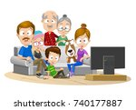 vector illustration of big... | Shutterstock .eps vector #740177887