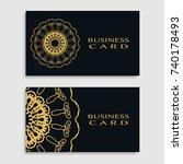 business card templates set... | Shutterstock .eps vector #740178493