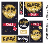 black friday banners set with... | Shutterstock .eps vector #740178757