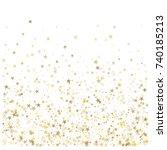 sparkling gold stars background ... | Shutterstock .eps vector #740185213