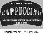 vintage font alphabet... | Shutterstock .eps vector #740191903