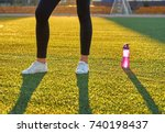 sports bottle of water and... | Shutterstock . vector #740198437