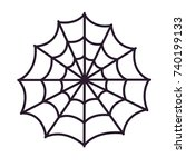 halloween spiders web icon | Shutterstock .eps vector #740199133