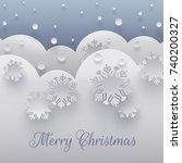 merry christmas holiday design  ...   Shutterstock .eps vector #740200327