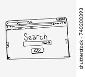 browser window with search bar... | Shutterstock .eps vector #740200393