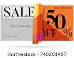 sale advertisement banner on... | Shutterstock .eps vector #740201407