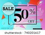 sale advertisement banner with... | Shutterstock .eps vector #740201617