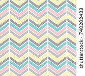 seamless vector grunge chevron... | Shutterstock .eps vector #740202433