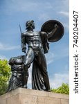 Small photo of The Wellington Monument of Achilles in Hyde Park London taken on 26 July 2014