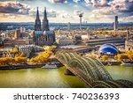 aerial view of cologne  germany | Shutterstock . vector #740236393