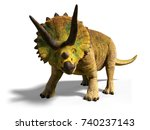 triceratops horridus of the...   Shutterstock . vector #740237143