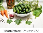 cucumbers and vegetables for...   Shutterstock . vector #740244277