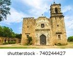 san antonio  texas  facade of... | Shutterstock . vector #740244427