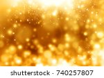 Golden Lights  Backgrond With...